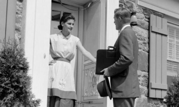 Reflections of the Door to Door Salesman | Groovy History